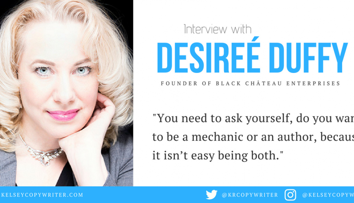 Social Media For Authors: Interview with Desireé Duffy
