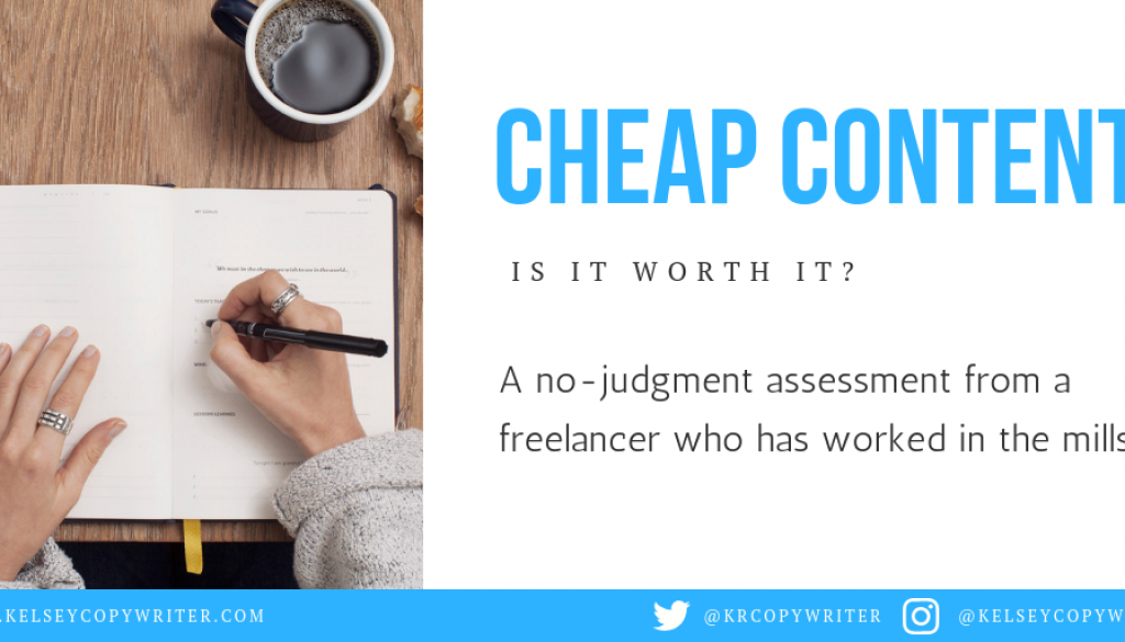 Is cheap content worth it?