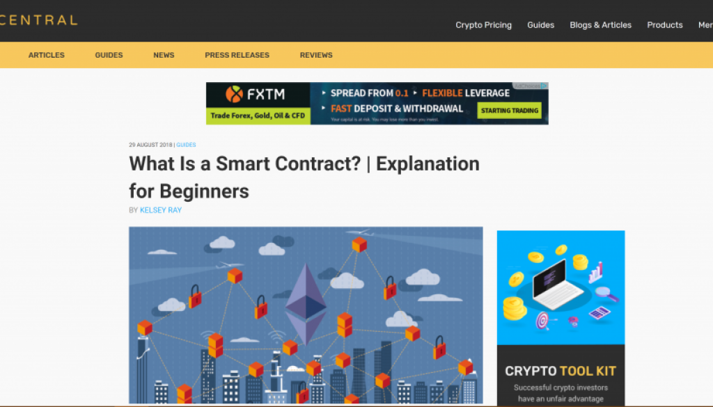 Blockchain Writer: CoinCentral